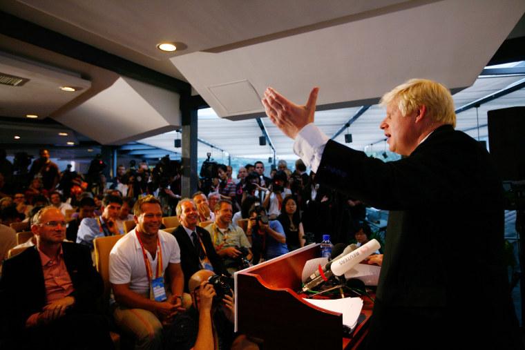 Mayor Of London Boris Johnson In Beijing Ahead Of Handover Ceremony