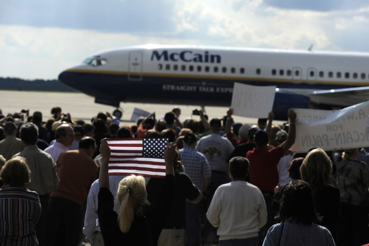 "McCain And Palin Hold ""Road To Victory"" Rally In Ohio"