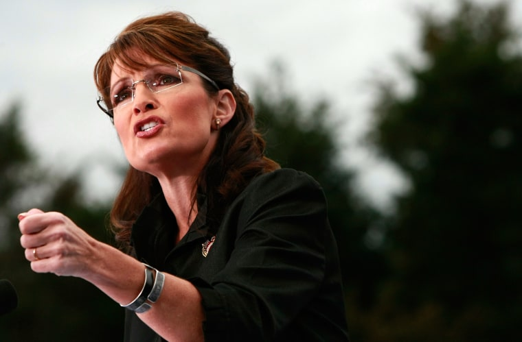 Palin Leads Campaign Rally In Virginia