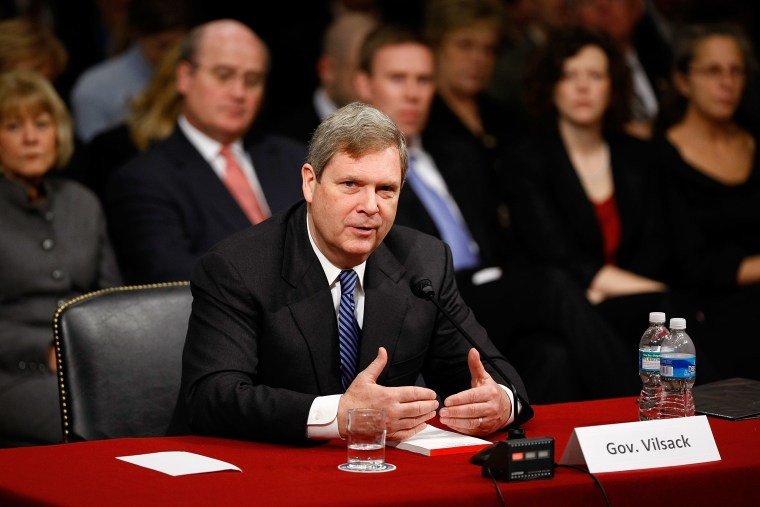Tom Vilsack Testifies At Senate Confirmation Hearing