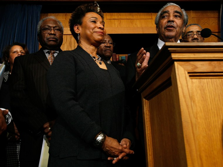 Congressional Black Caucus Holds Press Conference On Stimulus Bill