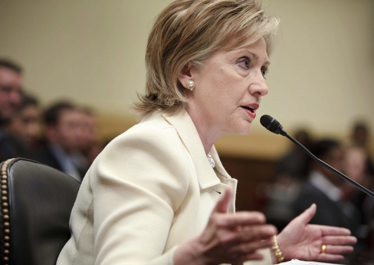 Clinton Testifies Foreign Policy Goals Before House Panel