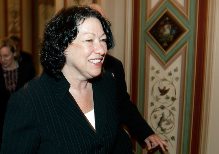 Supreme Court Justice Nominee Sonia Sotomayor Meets With Senators In DC