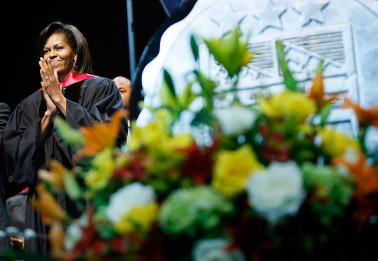Michelle Obama Gives Commencement Address At Local DC High School