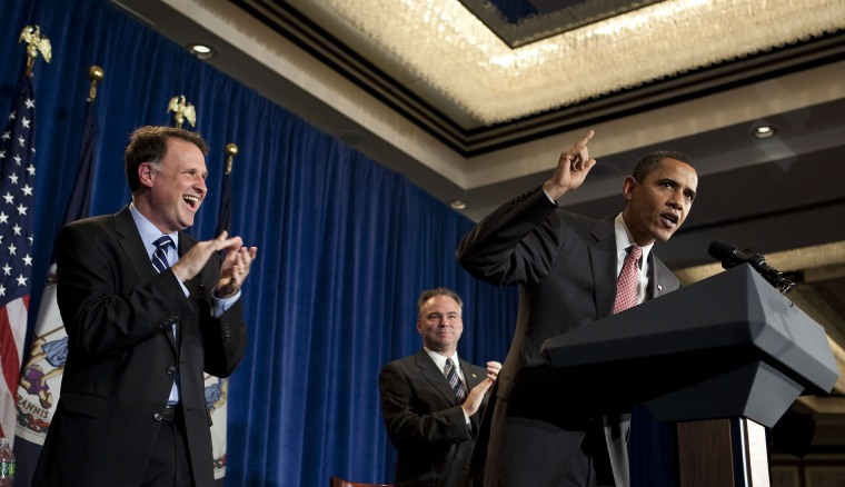 Obama Campaigns For Virginia Gubernatorial Candidate Deeds