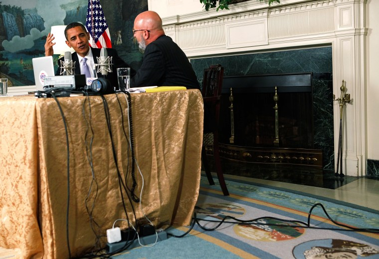Obama Appears On Radio Program At White House