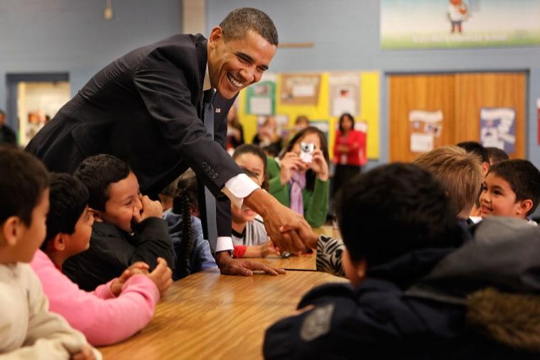 President Obama Visits Maryland Grade School