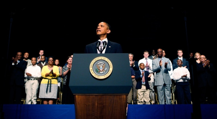 Image: BEST PIX:  Obama Makes Father's Day Speech
