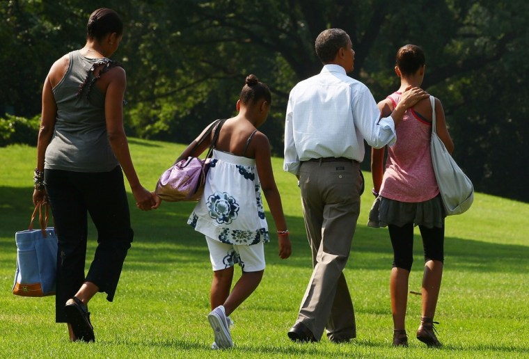 Image: First Family Departs White House For Weekend In Maine