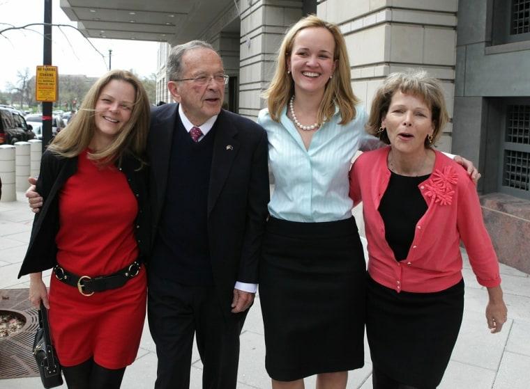 Image: Ted Stevens Appears For Hearing On Justice Dept's Dismissal Request