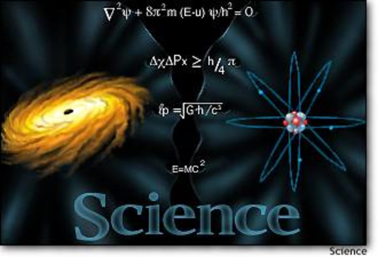 """Researchers are trying to bridge the gap between general relativity, which explains the gravitational properties of galaxies and black holes; and quantum mechanics, which explains the behavior of subatomic particles. The efforts could lead to a """"theory of everything."""""""