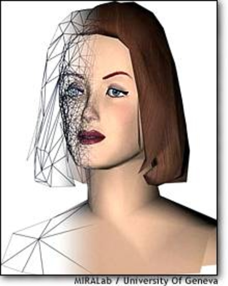 Animation software turns a graphic representation of a face or a figure into textured artwork -- but it still requires motion capture and pixel-by-pixel retouching to create a realistic virtual actress.
