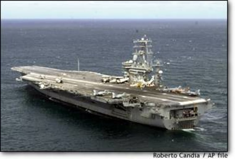 The USS Nimitz, the mother ship of the class of aircraft carrier that now dominates the U.S. Navy.