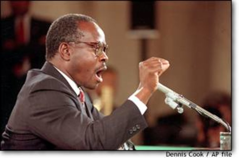 Clarence Thomas, whose nomination became embroiled in sexual harassment allegations, testified before the Senate Judiciary Committee on Oct. 12, 1991.