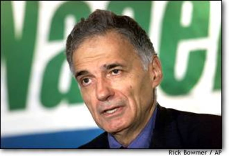Ralph Nader criticized a federal plan to ban hemp foods during a news conference in September 2000.