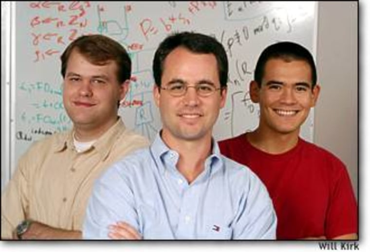 Johns Hopkins researchers Adam Stubblefield, Avi Rubin and Yoshi Kohno were involved in the software analysis, along with Rice University computer scientist Dan Wallach (not pictured).