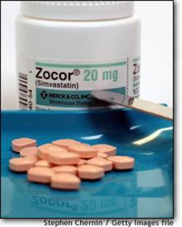 Studies have shown that statins, like Zocor pictured here, may cut the production of a protein that leads to the waxy deposits that clog the brains of Alzheimer's patients.