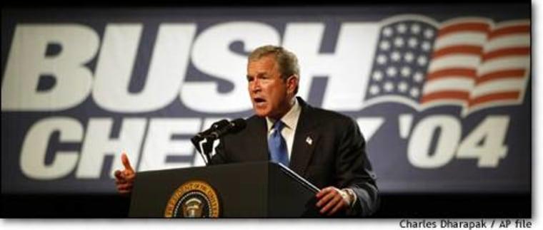 President Bush speaks at a fund-raising dinner in Los Angeles in June.