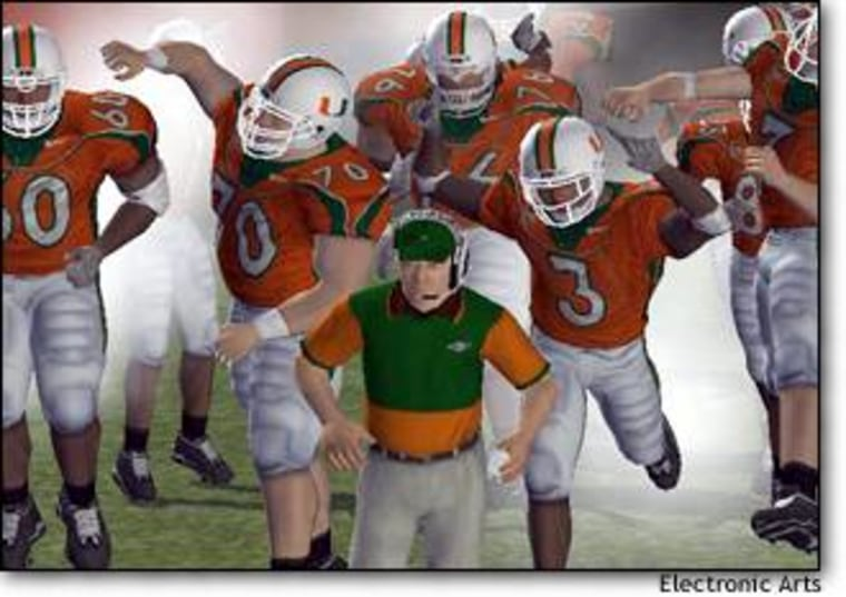 """The University of Miami Hurricanes are pumped for """"NCAA Football 2004."""""""