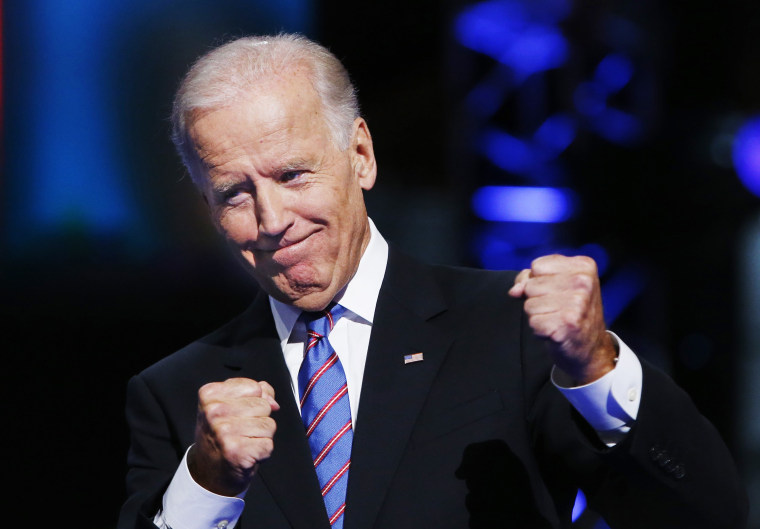 Image: U.S. Vice President Biden addresses the final session of the Democratic National Convention in Charlotte