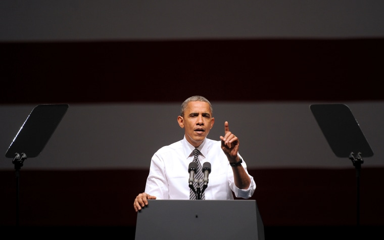 President Barack Obama speaks during a campaign event on Monday, Oct. 8, 2012, in San Francisco. (AP Photo/Noah Berger)