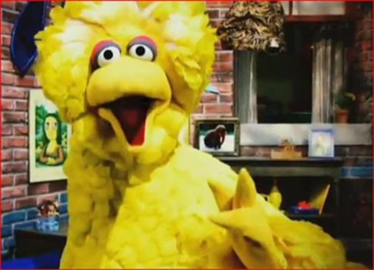 Sesame Street's Big Bird character appears in an Obama campaign ad attacking Mitt Romney