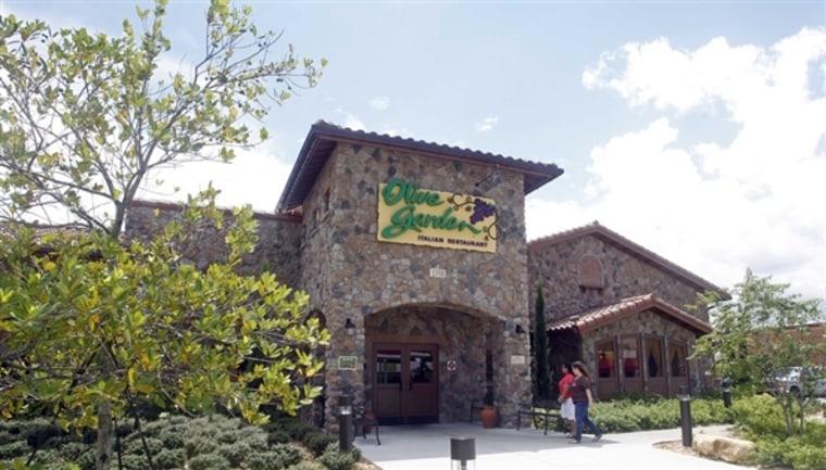 An Olive Garden restaurant is shown in Hialeah, Fla., Thursday, Sept. 6, 2012. Alan Diaz / AP