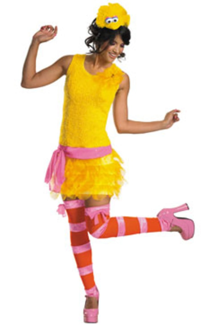 """Sassy Big Bird"" costume has become<br /> a big seller this Halloween season."
