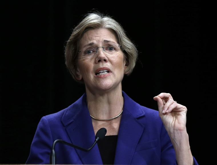 Democratic challenger Elizabeth Warren speaks during a debate with Republican Sen. Scott Brown in Springfield, Mass. last month. (Photo: AP Photo/Elise Amendola)