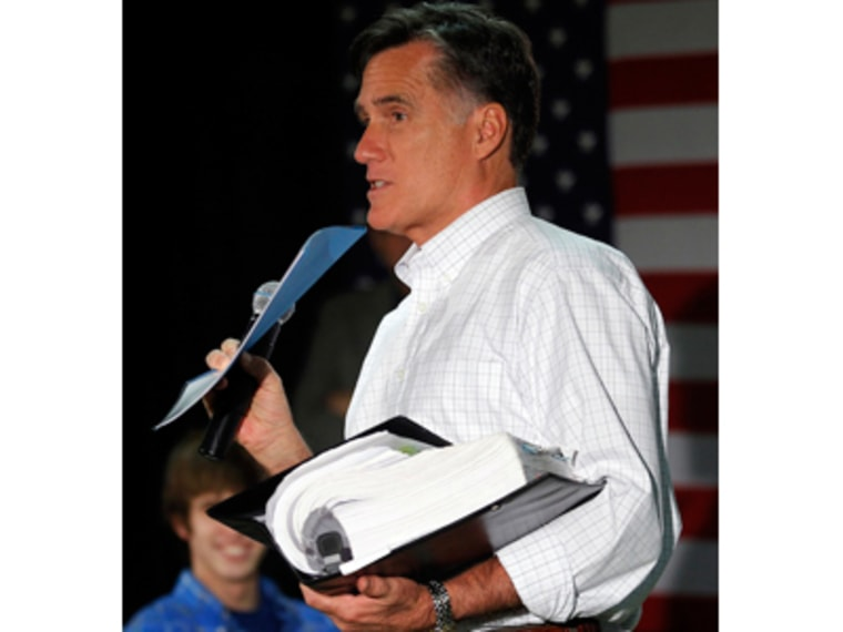 Mitt Romney now has a binder full of problems. (Photo: REUTERS/Brian Snyder)