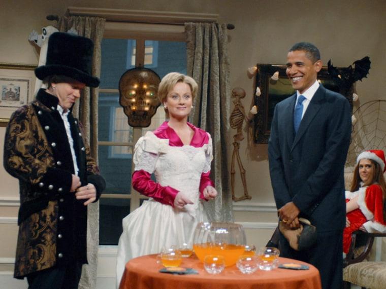 Barack Obama appearing on SNL in 2008. (NBCU Photobank)