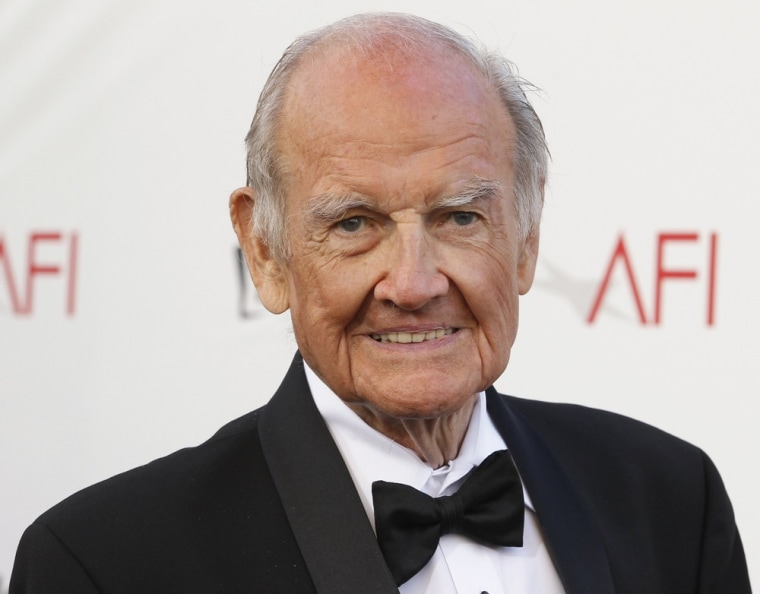 George McGovern arrives at the TV Land cable channel taping of the AFI Life Achievement Award honoring actress Shirley MacLaine in Los Angeles in this June 7, 2012 file photo.