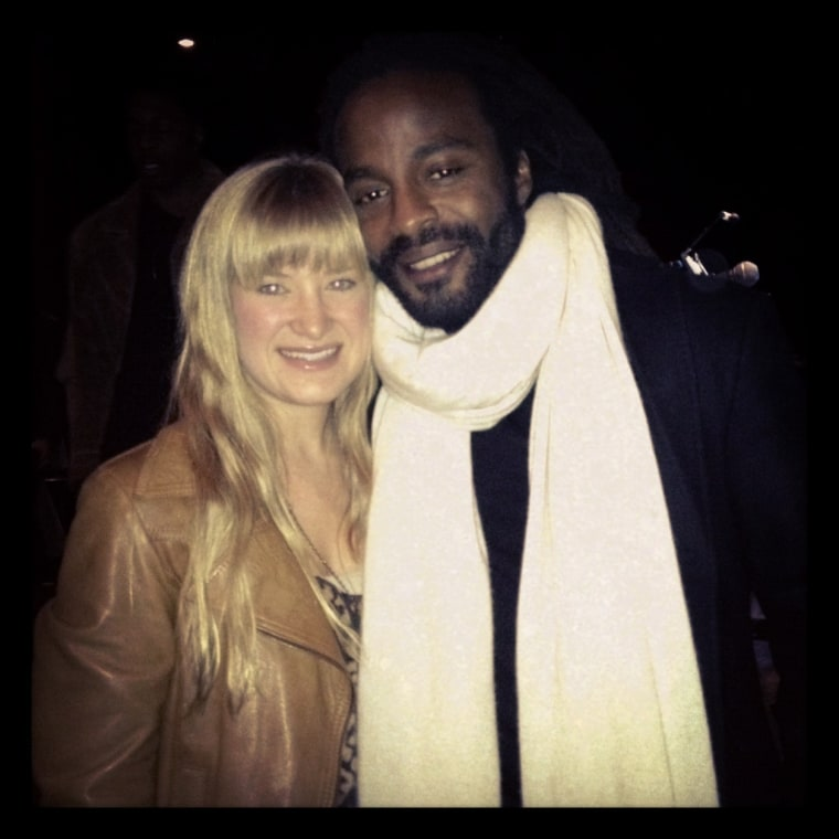 The actor with NOW producer Linsday Weiss