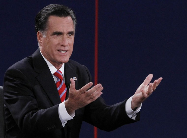 Republican presidential nominee Mitt Romney answers a question during the final presidential debate in Boca Raton, Fla., Oct. 22. (Photo: Jason Reed/Reuters)