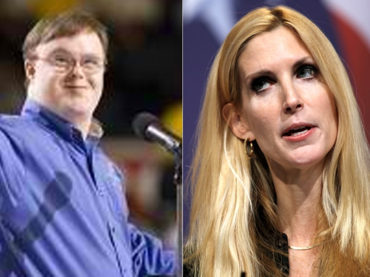 John Franklin Stephens and Ann Coulter (Photos: Courtesy Special Olympics Virginia and AP file)