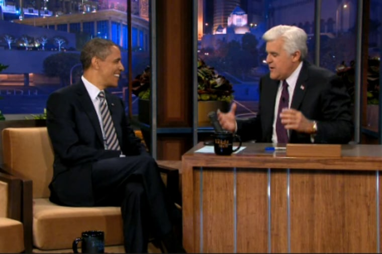 President Obama appeared on 'The Tonight Show' with Jay Leno on Wednesday night.