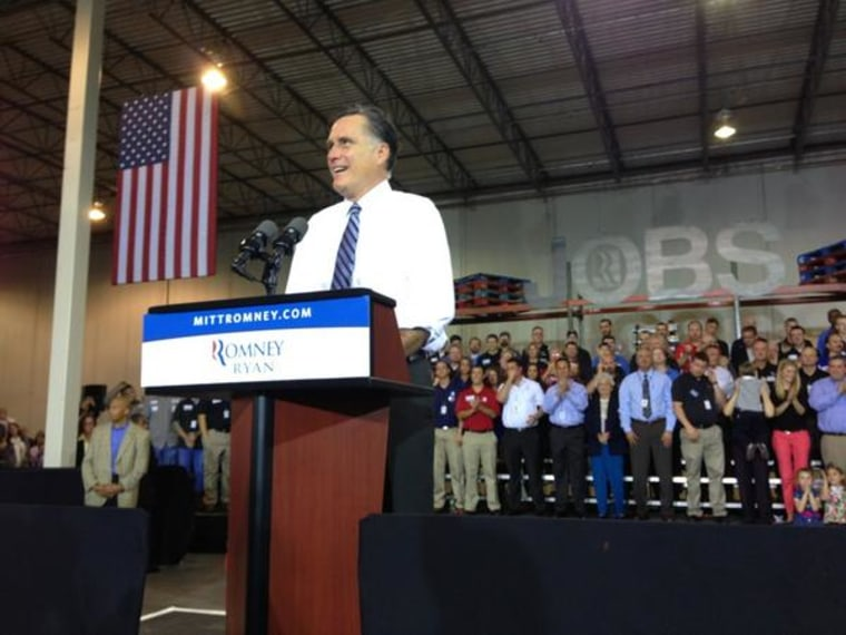 Gov. Romney attends the first of three events today in the battleground state of Ohio. (Twitter photo via @dgjackson)