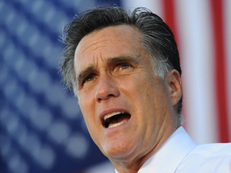 Mitt Romney at a campaign stop earlier this week. (AP)