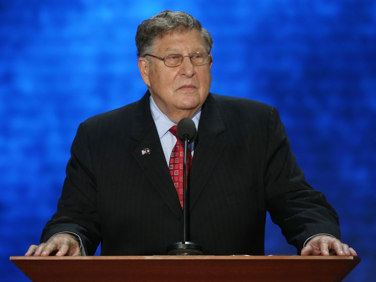 Former New Hampshire Gov. John Sununu speaks during the Republican National Convention at the Tampa Bay Times Forum in August.  (Photo by Mark Wilson/Getty Images)