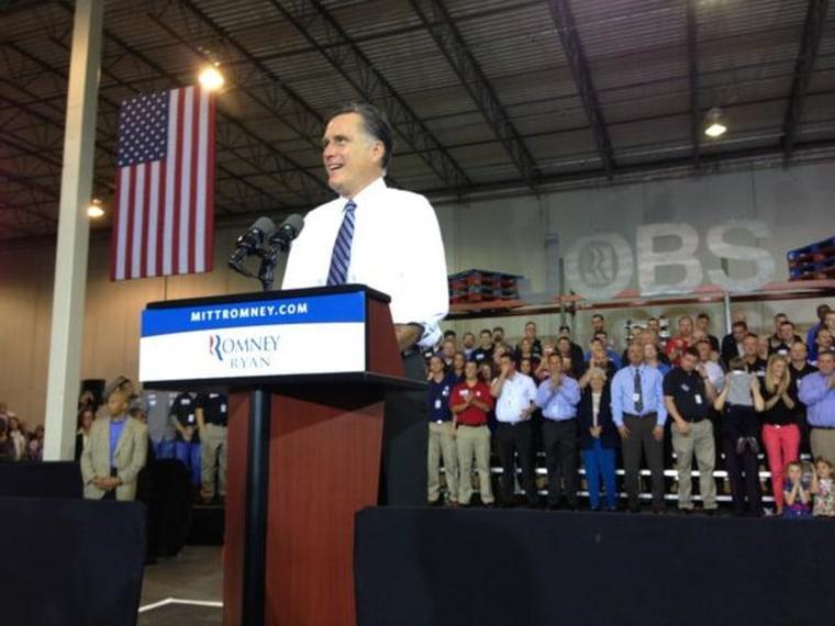 Gov. Mitt Romney campaigning in Ohio this week.