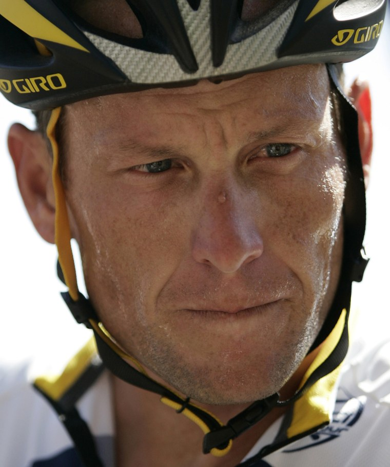 The Jan. 14, 2009 file photo shows seven-time Tour de France cycling champion Lance Armstrong of the U.S. during a stop on the third day of training with his team Astana in Adelaide, Australia. UCI, the cycling governing body, agreed Monday, Oct. 22,...