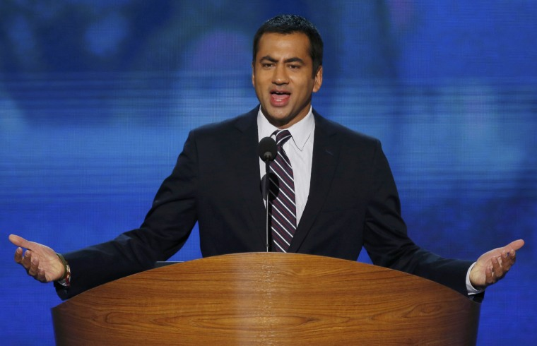 Actor Kal Penn addresses delegates during the first day of the 2012 Democratic National Convention in Charlotte, North Carolina (Photo: Reuters/Jason Reed)