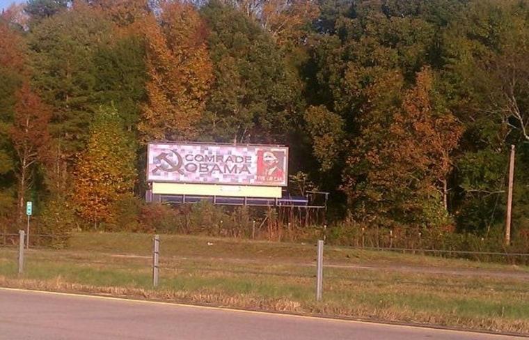 Anti-Obama billboard on a highway in Georgia (WXIA)
