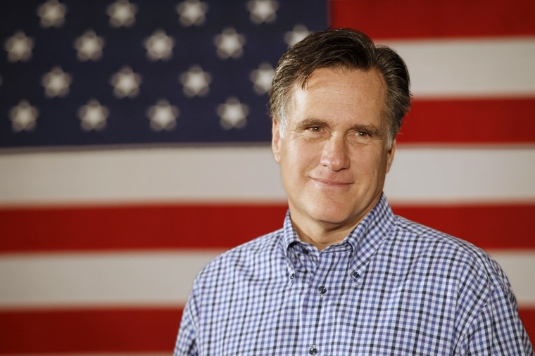 FILE - In this Dec. 30, 2011, file photo Republican presidential candidate, former Massachusetts Gov. Mitt Romney, listens to a speaker at VFW Post 8641 in Merrimack, N.H. Just how rich is Mitt? Add up the wealth of the last eight presidents, from...