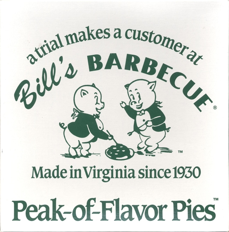 A copy of the Bill's Barbecue logo. Note the pigs cooking other pigs(Richmond Times-Dispatch)