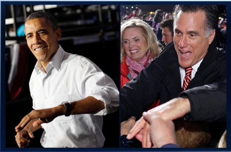 President Obama and Mitt Romney on the trail