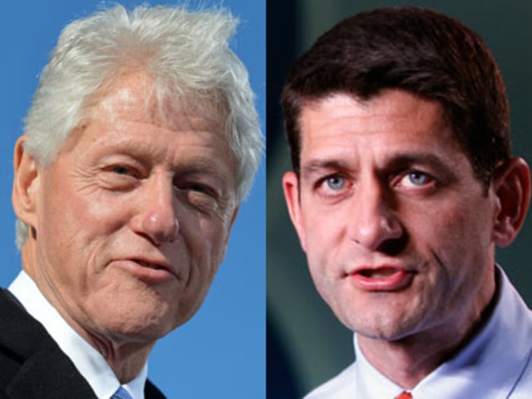 Former President Bill Clinton and Republican vice presidential candidate Paul Ryan (Jewel Samad/AP Photo;  Mary Altaffer/ AP Photo/)
