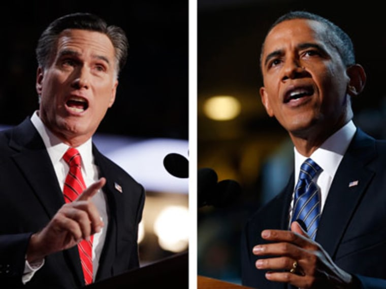 Former Governor Romney and President Obama (Shannon Stapleton/Reuters;  Jim Young/Reuters)