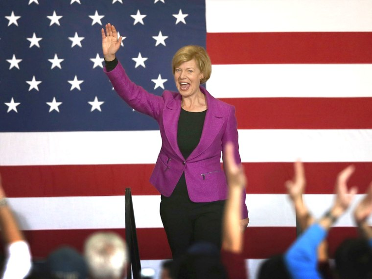Experts gave U.S. Rep. Tammy Baldwin (D-WI) good odds at winning the Wisconsin race for Senate against former Governor, Tommy Thompson. (Photo by Scott Olson/Getty Images)