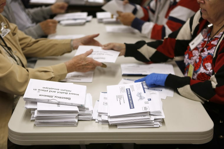 Election workers open mail-in ballots at the Boulder County Clerk and Recorder's Office on November 6, 2012 in Boulder, Colorado. (Photo: Marc Piscotty/Getty Images)